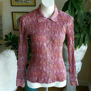 Allison Taylor silk blouse size Medium
